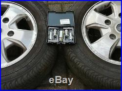 Unmarked Ford Transit custom alloy wheels 16' with tyres. New locking + nuts