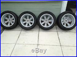 VW Beetle wheels with good tyres and locking wheel nuts
