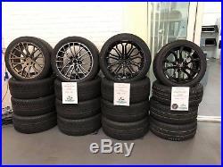 VW T5 T6 Wolfrace Munich Alloy Wheels & TYRES 18 locking nuts wheel nuts rings