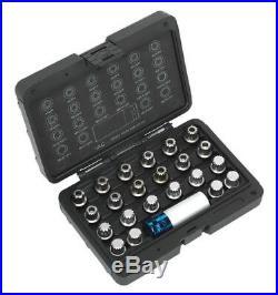 Vag'locking Wheel Nut Key Set 23pc From Sealey