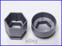 Vauxhall Astra Mokka Insignia Zafira Wheel Nut Bolt Covers Locking Caps Grey