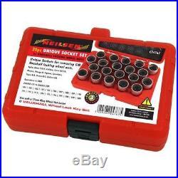 Vauxhall C 20pc Locking Wheel Nut Master Key Set (F/G/H/B/C/D/, Etc)