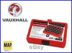 Vauxhall (C) 20pc Neilsen Locking Wheel Nut Master Key Set (181 200)