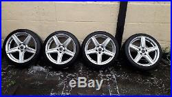 Vauxhall Vectra C 18in 5 Spoke Alloy Wheels and Tyres with Locking Nuts