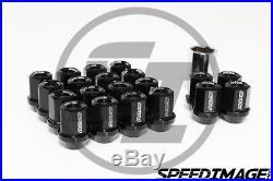 Volk Racing Rays Dura L32 Lug Nuts Set 12x1.5 1.5 Black Lock Locking Acorn