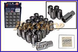 Volk Racing Rays Straight L42 Dura Wheels Lock Lug Nuts 12x1.25 1.25 Gun Metal S