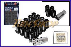 Volk Racing Rays Straight L42 Dura Wheels Lock Lug Nuts 12x1.25 1.25 Rim Black U