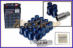 Volk Racing Rays Straight L42 Dura Wheels Lock Lug Nuts 12x1.5 1.5 Rim Blue L