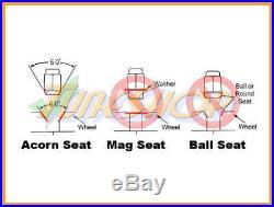 Volk Racing Rays Straight L42 Dura Wheels Lock Lug Nuts 12x1.5 1.5 Rim Blue M