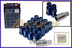 Volk Racing Rays Straight L42 Dura Wheels Lock Lug Nuts 12x1.5 1.5 Rim Blue T