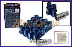 Volk Racing Rays Straight L42 Dura Wheels Lock Lug Nuts 12x1.5 1.5 Rim Blue U