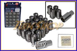 Volk Racing Rays Straight L42 Dura Wheels Lock Lug Nuts 12x1.5 Rim Gun Metal L