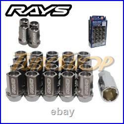 Volk Racing Rays Straight L42 Dura Wheels Lock Lug Nuts 14x1.5 M14 Rim Gun Metal