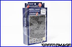 Volk Racing Rays Straight L42 Lug Nuts Set 14x1.5 1.5 M14 Black Dura Lock Acorn