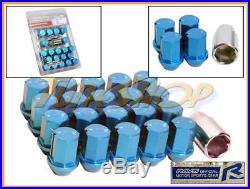 Volk Rays 35mm Wheels Lock Lug Nuts 12x1.25 1.25 Acorn Rim Forged Dura 20 Blue N