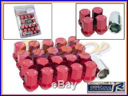 Volk Rays 35mm Wheels Lock Lug Nuts 12x1.25 1.25 Acorn Rim Forged Dura 20 Red N
