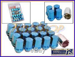 Volk Rays 35mm Wheels Lock Lug Nuts 12x1.5 1.5 Acorn Rims Forged Dura 20 Blue L
