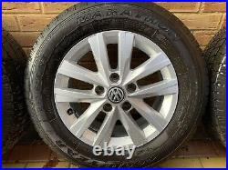 Vw T6 16 Clayton Wheels / Goodyear Tyres 215/65/r16c Inc Bolts And Locking Nuts