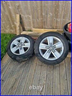 Vw alloys T6.1 x 4 plus lock in wheel nuts