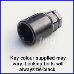 WHEEL LOCKING BOLTS VAUXHALL CORSA NUT (x4) ALLOY BLACK SECURITY LUG STUD Tb