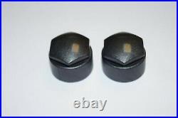 WHEEL NUT BOLT COVERS SKODA OCTAVIA FABIA SUPERB 17mm LOCKING BOLT CAPS OEM GREY