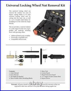 Welzh Werkzeug Universal Locking Wheel Nut Removal Master Kit 31433-WW