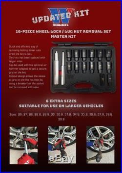 Werkzeug Locking Wheel Nut Removal Master Kit