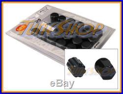Work Racing Rs Type Forged Aluminum Lock Lug Nuts 12x1.5 M12 1.5 Black 20 Pcs T