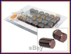 Work Racing Rs Type Forged Aluminum Lock Lug Nuts 12x1.5 M12 1.5 Bronze 20 Pcs H
