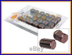 Work Racing Rs Type Forged Aluminum Lock Lug Nuts 12x1.5 M12 1.5 Bronze 20 Pcs T