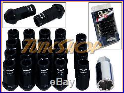 Work Racing Rs-r Extended Forged Aluminum Lock Lug Nuts 12 X 1.25 Black Open S
