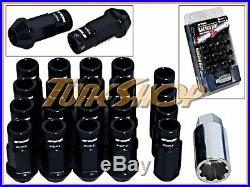 Work Racing Rs-r Extended Forged Aluminum Lock Lug Nuts 12x1.5 1.5 Black Open U