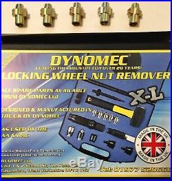 XL Dynomec Locking Wheel Nut Remover Kit With 5 Free Extra C Blades
