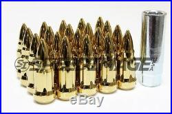 Z Racing Bullet Gold Steel Lug Nuts 12x1.5mm Extended Key Tuner Closed